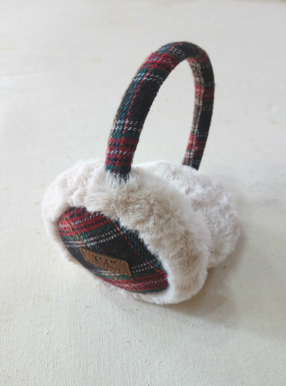 Brown Plaid Ear Muff