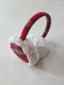 Red Plaid Ear Muff