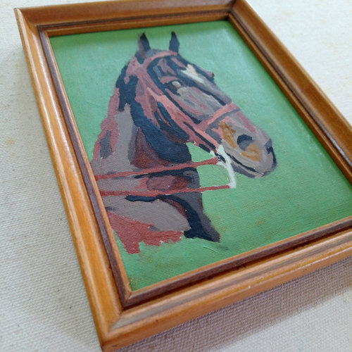 Vintage Mini Horse Paint by Number