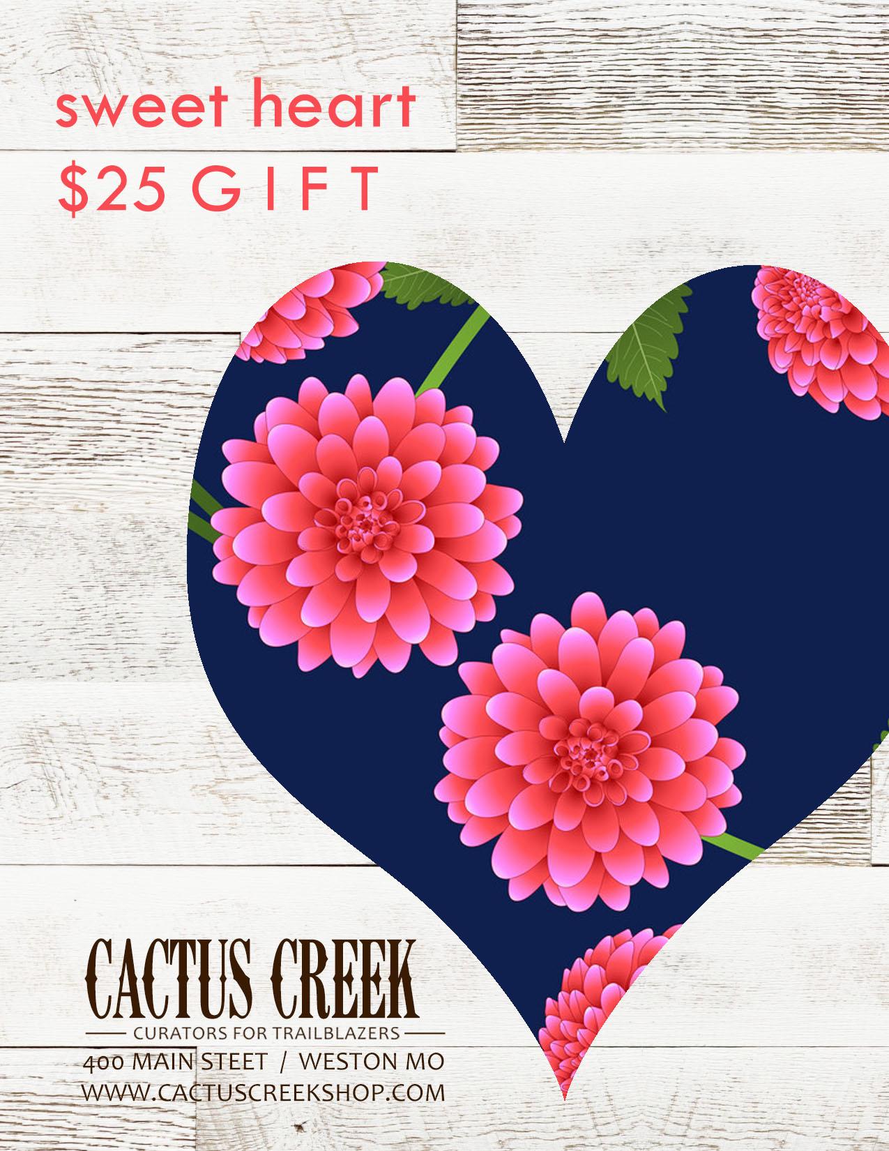 $25 Sweet Heart Gift Card