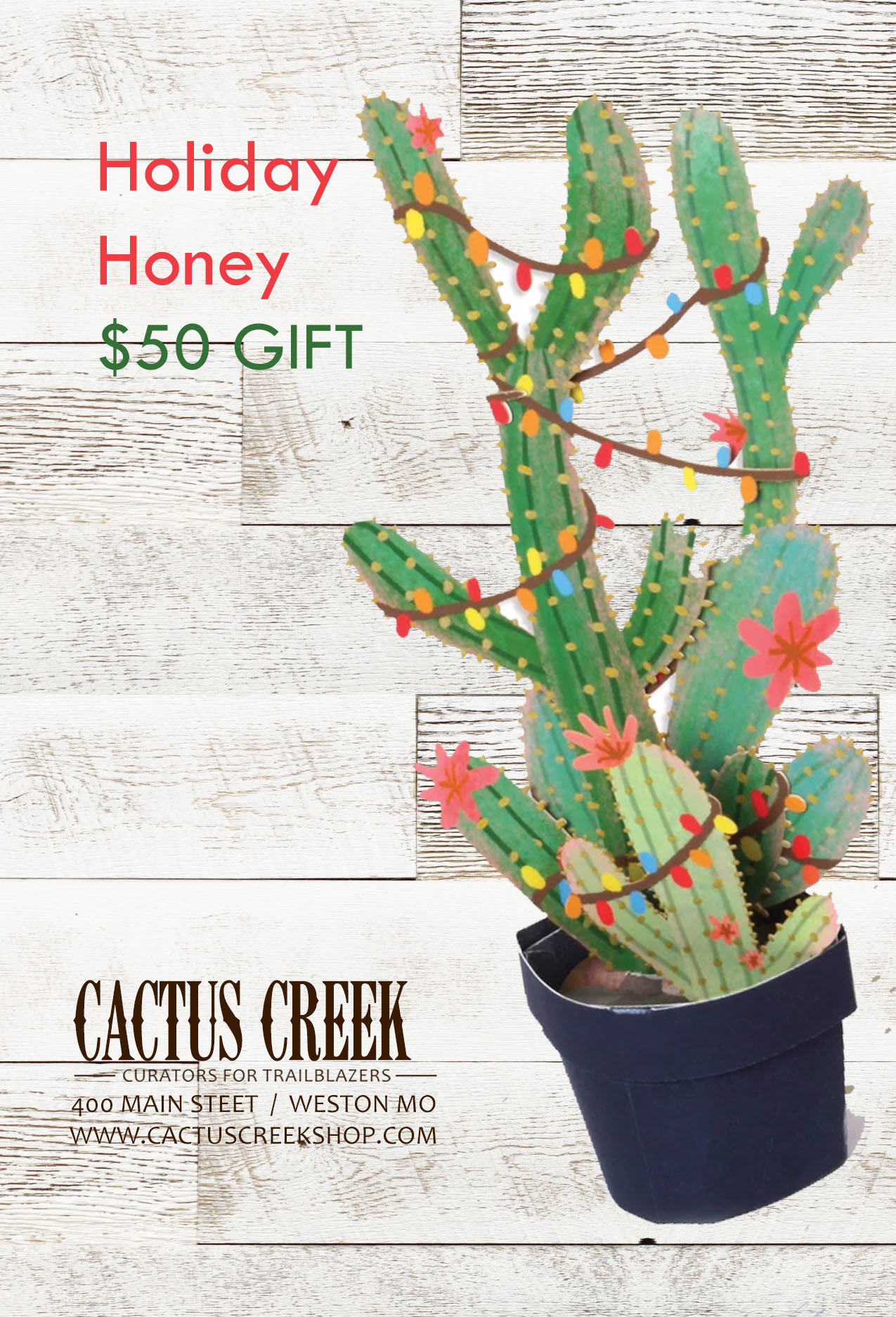 Cactus Creek $50 Holiday Gift Card