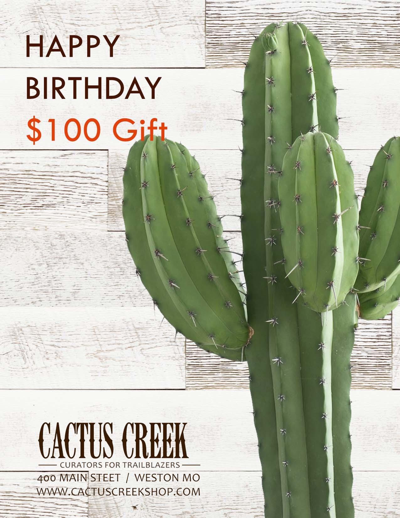 $100 Birthday Gift Card