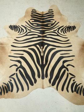 Zebra Printed Blonde Cowhide CUSTOM ORDER