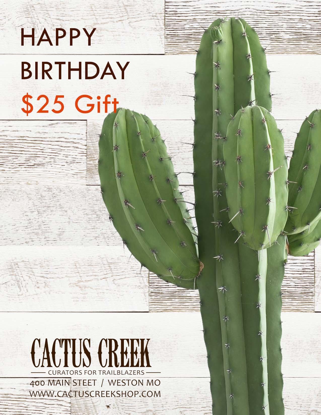 Cactus Creek $25 Birthday Gift Card