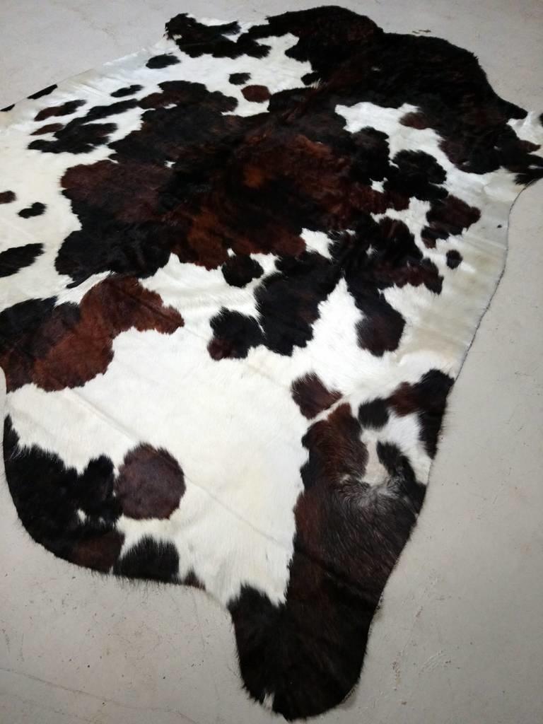 Black + Brown + White Cowhide Rug CUSTOM ORDER