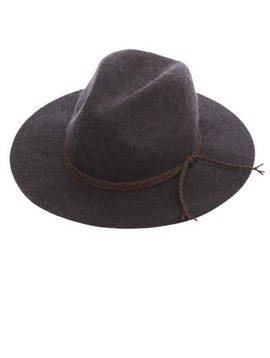 Charcoal Wool Panama Hat