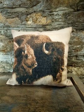 Native American Buffalo Pillow