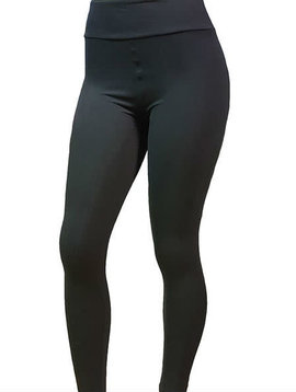 Solid Black Yoga Band Legging