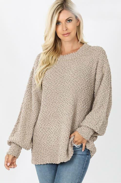 Mocha Popcorn Sweater
