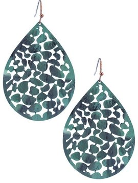 Patina Filigree Teardrop Earring