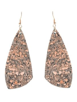 Teardrop Cork Suede Earring