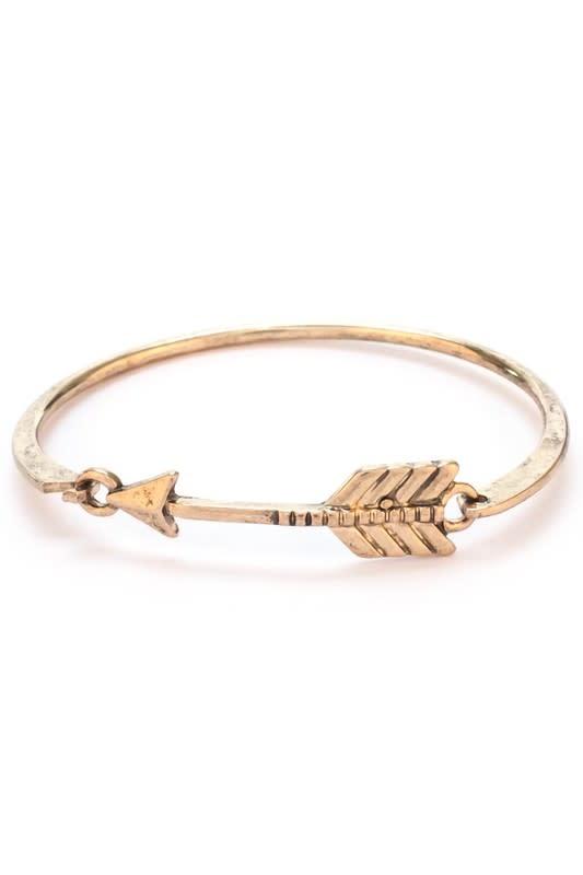 Gold Arrow Bangle Bracelet