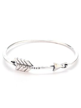 Silver Arrow Bangle Bracelet