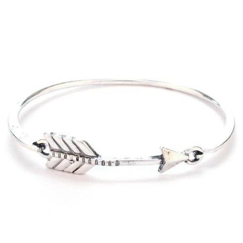 Silver Arrow Bangle Bracelet