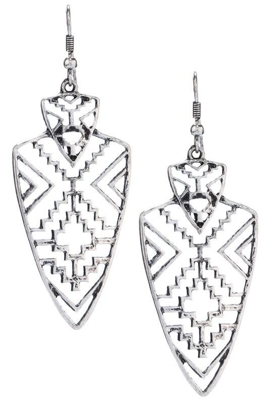 Tribal Arrowhead Earring