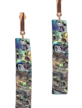 Abalone Bar Drop Earring