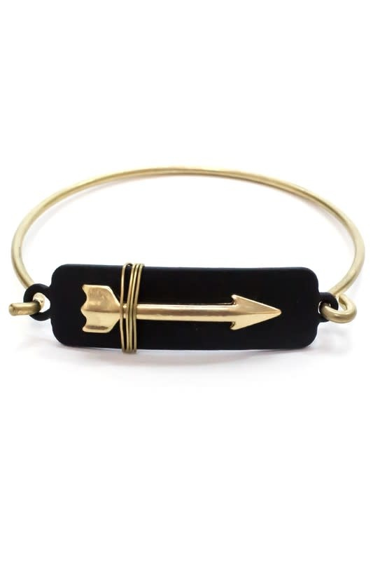 Wire Wrapped Arrow Bracelet Black