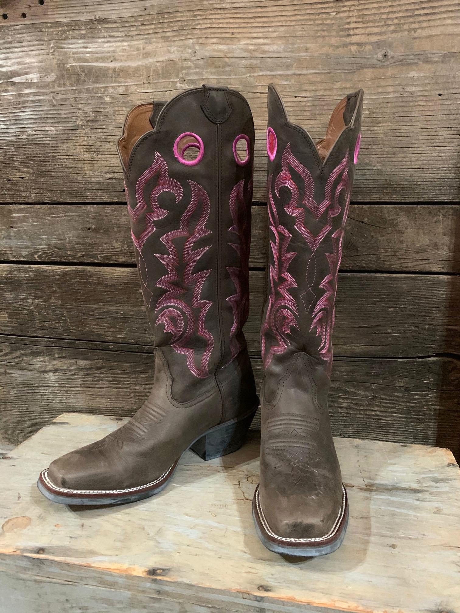 Tony Lama Tall Square Toe Boot size 8.5