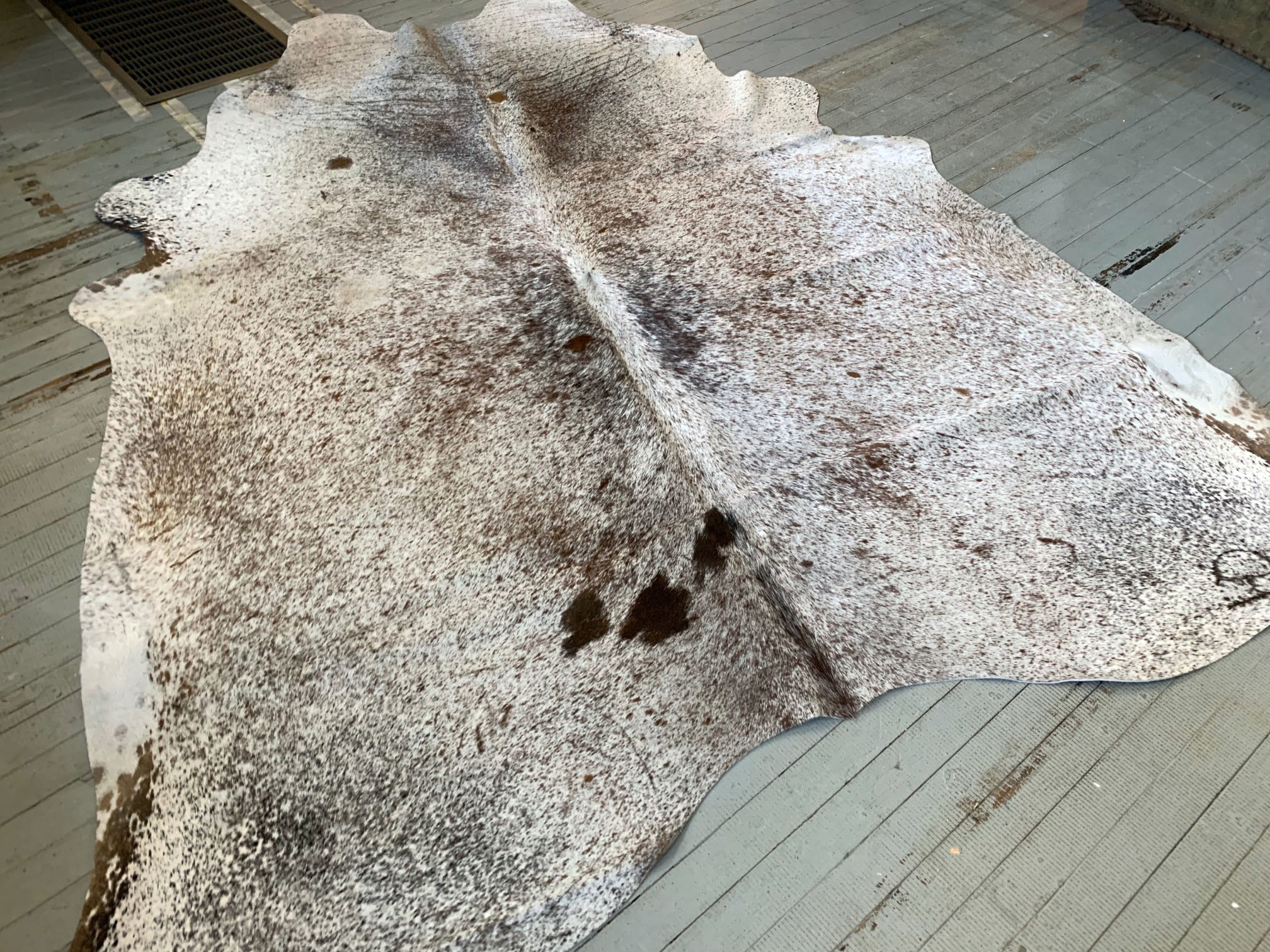 White Brown + Black Speckles Cowhide 2540