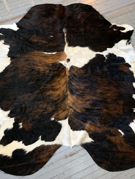 Brindle Spotted Black Brown Tan Cowhide 2533