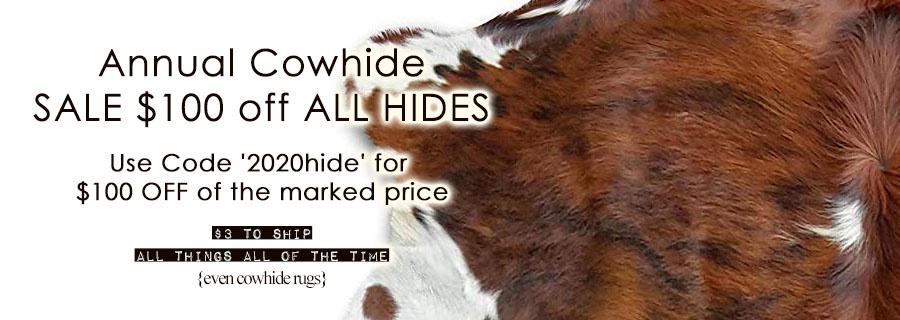 Cowhides + Horns