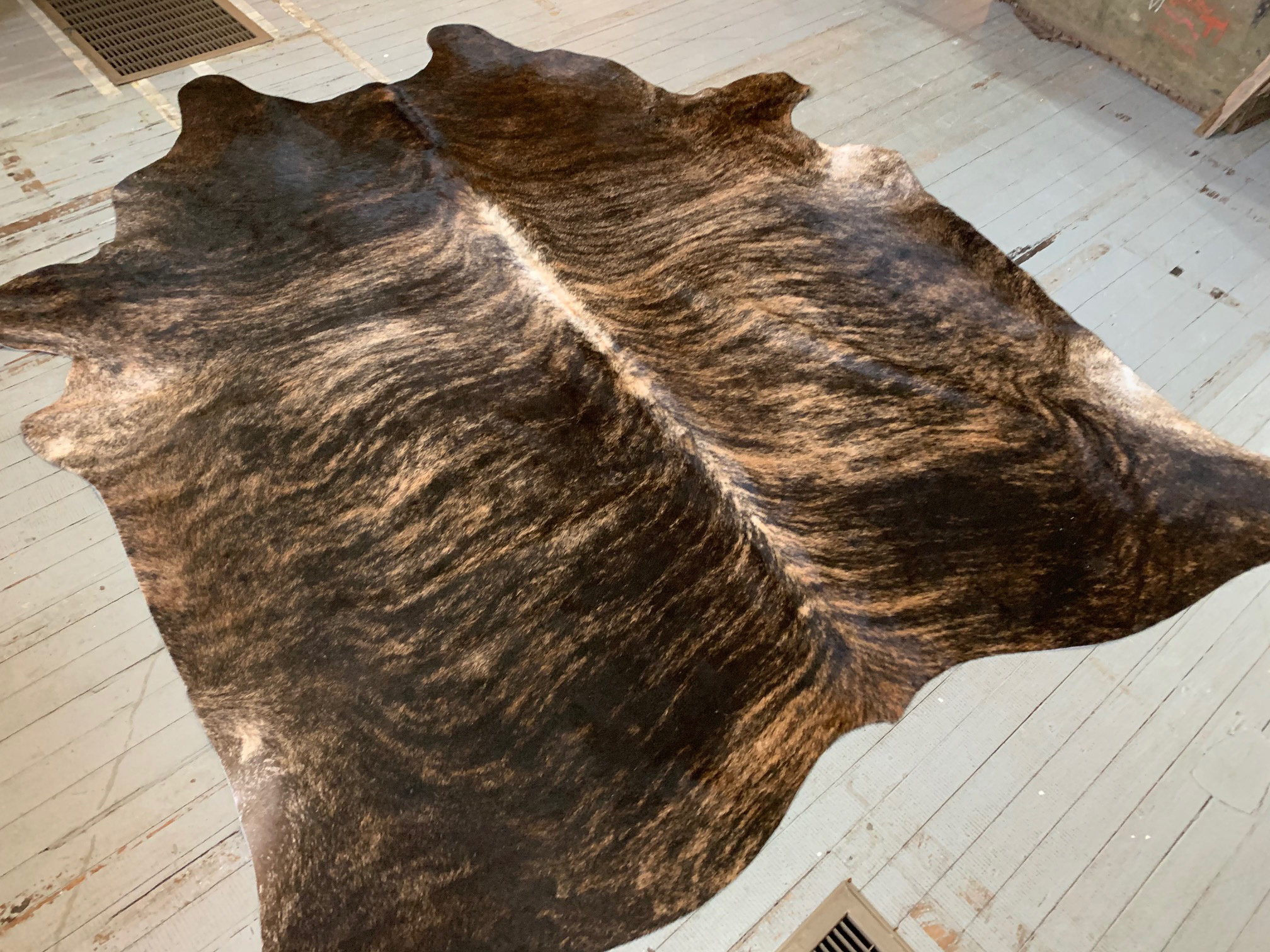 Tobacco Brown + Beige Brindle Cowhide 2555