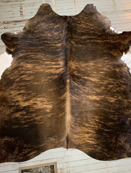 Brown + Blonde with White Edges Cowhide 2560