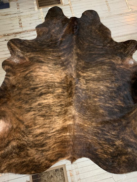 Blonde + Tobacco Brown Brindle Cowhide 2563