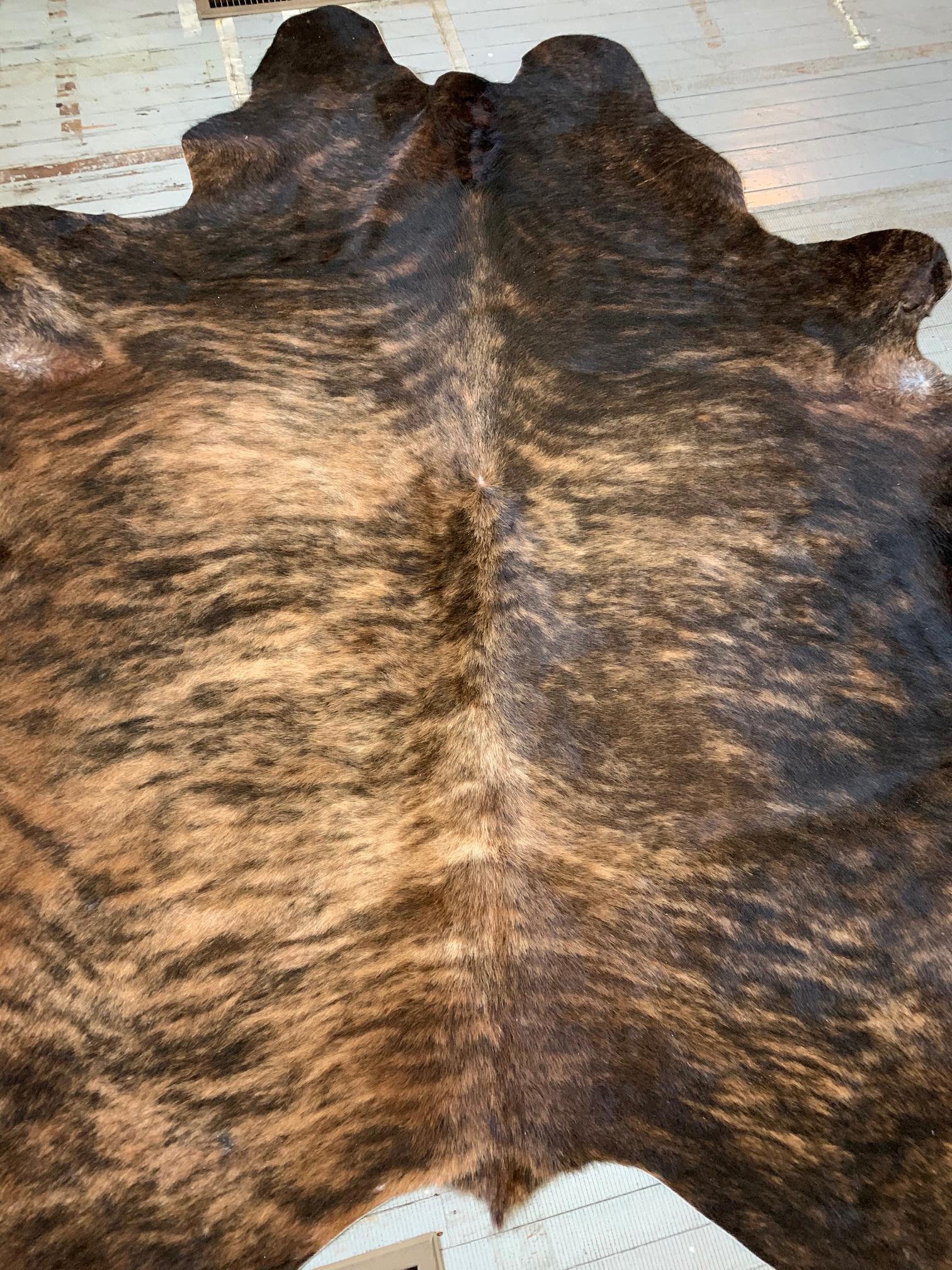 Blonde + Tobacco Brown Brindle Cowhide 2563