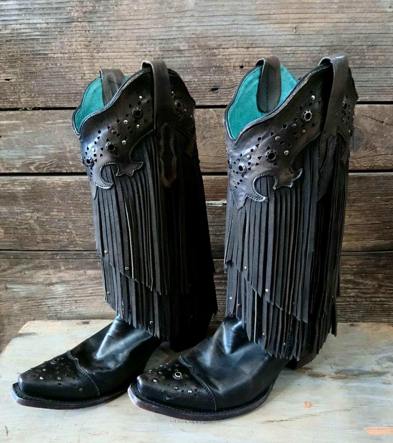 Corral Size 8.5 Fringe Boot Style C1184
