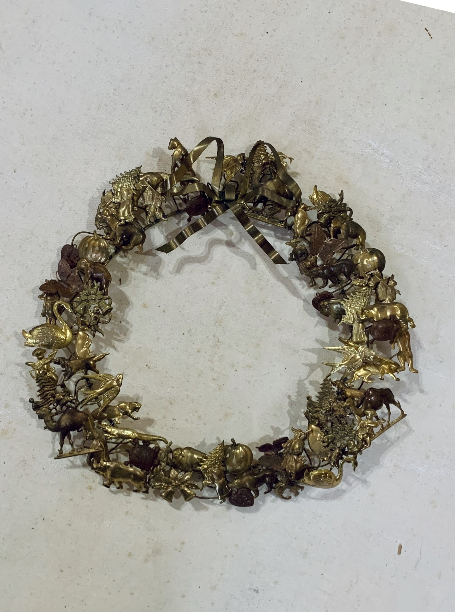 All Seasons & Holidays Vintage Brass Wreath