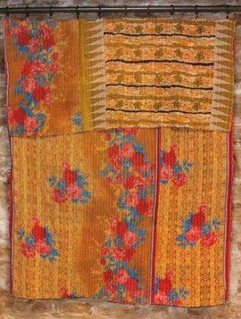 Kantha Sari Throw #146