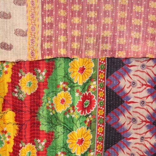 Kantha Sari Throw #149