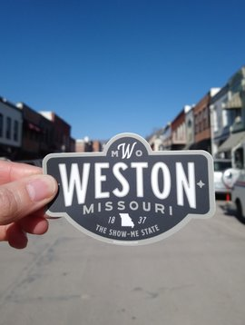 Weston, MO Badge Sticker Charcoal
