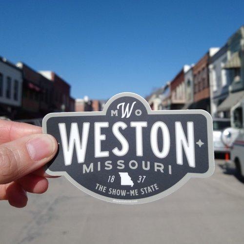 Weston, MO Badge Sticker Charcoal