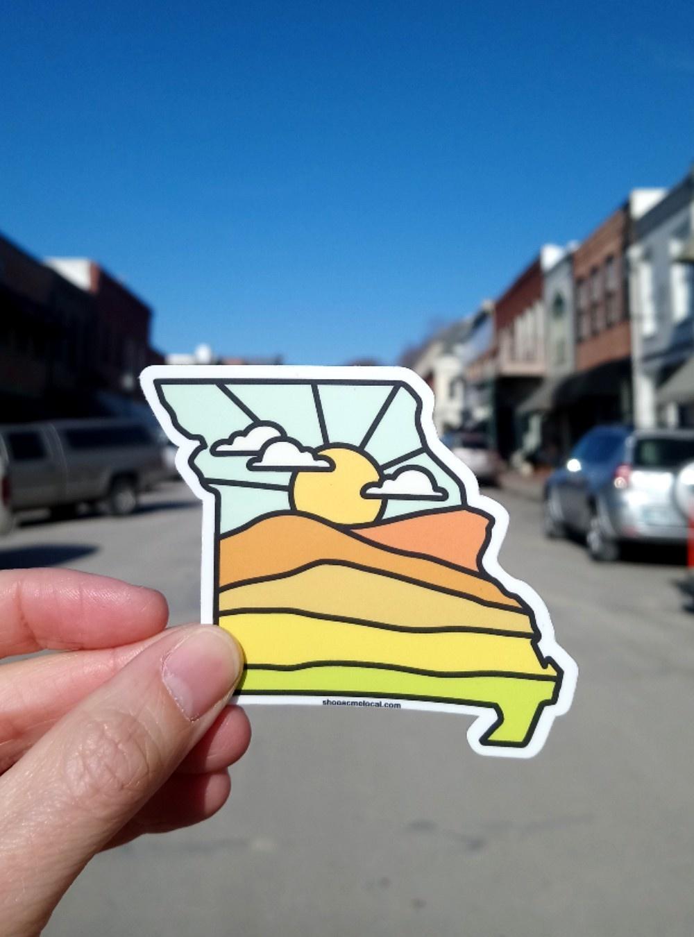 Missouri Sunrise Sticker