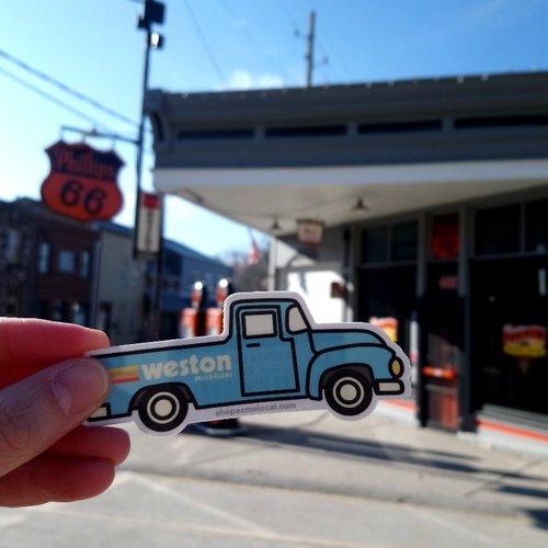 Vintage Truck Weston, MO Sticker