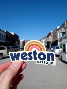 Weston, MO Rainbow Sticker