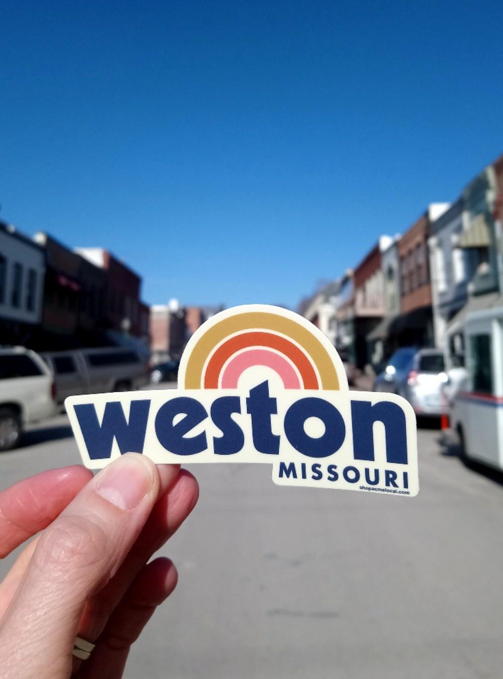 Weston, MO Rainbow Sticker