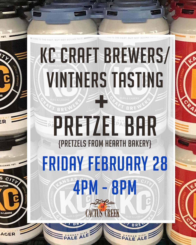 Pretzel Bar + KC Craft Co. Brewers and Vinters