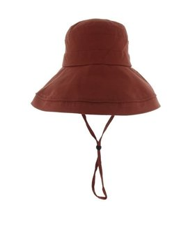 Burgundy Cotton Bucket Hat