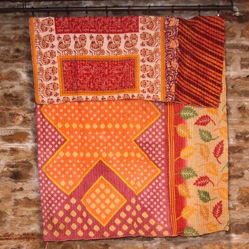 Kantha Sari Throw #159