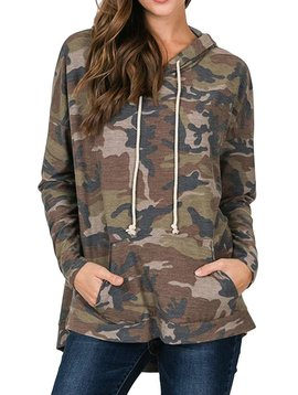 Camo Hoodie with Front Pockets