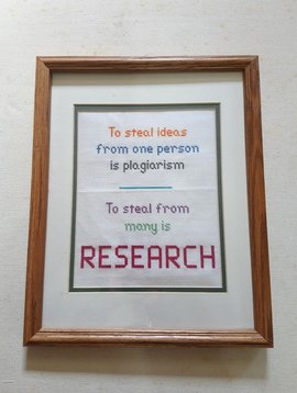 Research Needlepoint Framed Wall Art