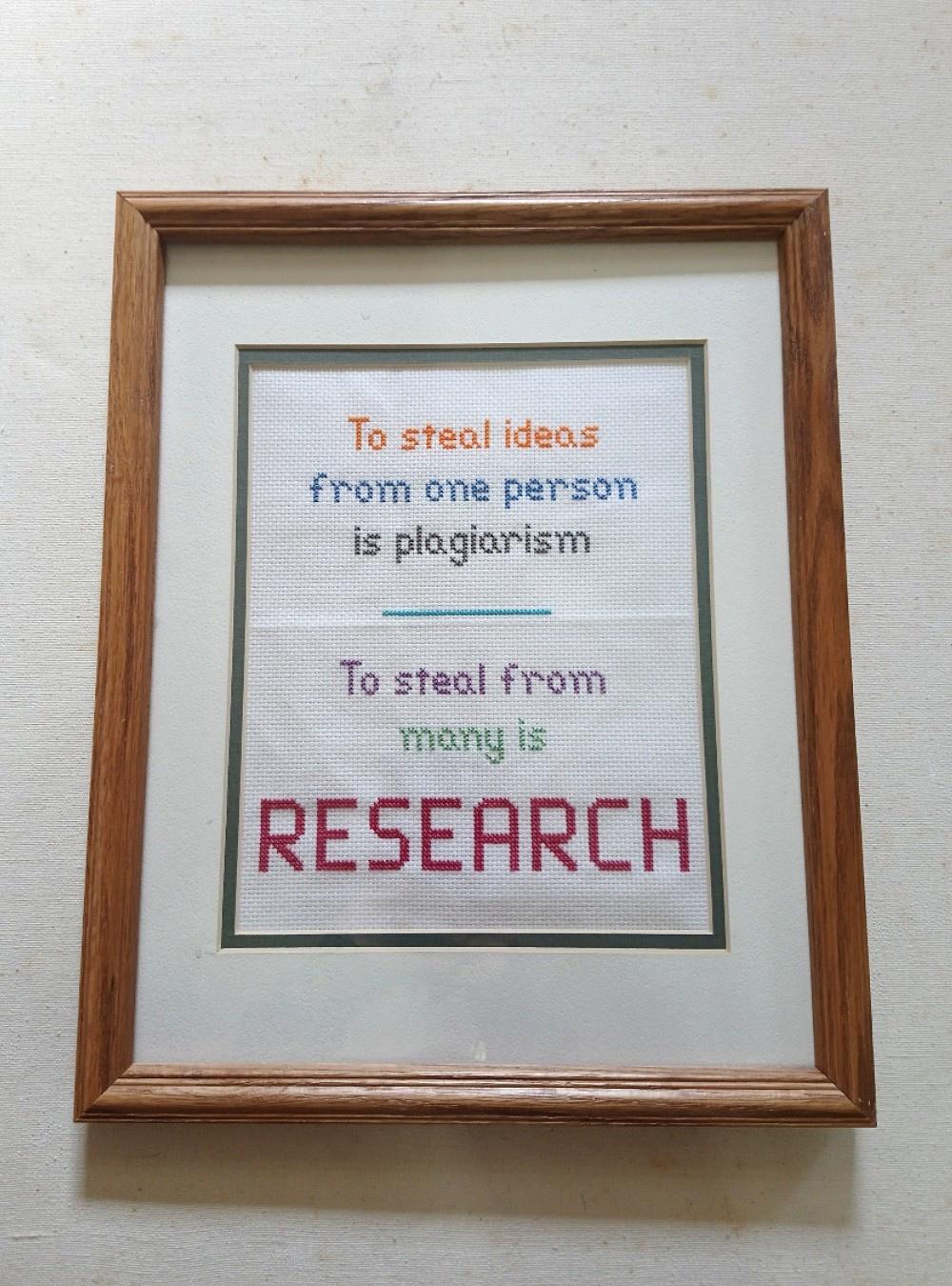 Research Needlepoint Framed Wall Art
