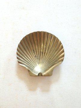 Vintage Brass Seashell Ashtray