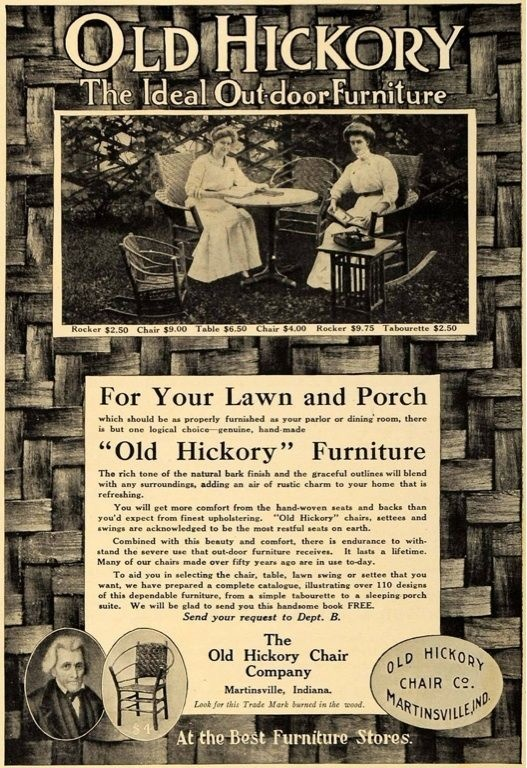 Vintage Old Hickory Furniture Advertisement
