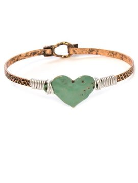 Hammered Copper Heart Bracelet