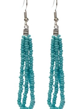 Turquoise Seed Bead Earring