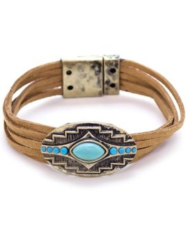 Suede Leather Tribal Bracelet
